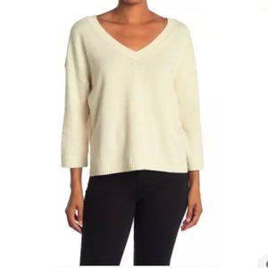 Madewell Pullover Sweater Double V-neck Knit crop